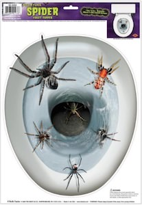 Spider toilet see cover
