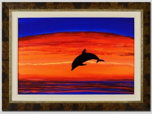 Dolphin Sea Vision Wyland Signed Painting