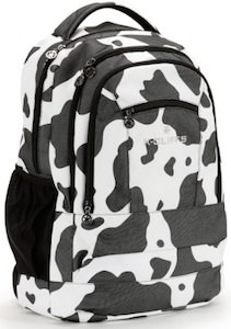 "Cow Print 19"" Backpack"