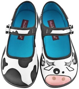 cow print girls shoes