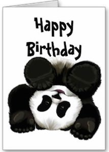 Panda bear birthday card giant panda birthday card bookmarktalkfo Image collections