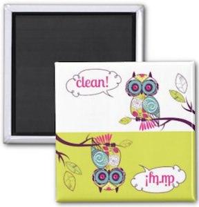 Owl Dishwasher magnet