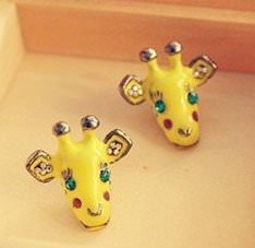 yellow giraffe earrings