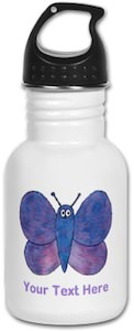 Butterfly Personalized Water Bottle