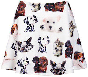 women's skirt with Dogs on it
