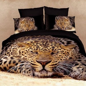 Leopard Duvet Cover Bedding Set