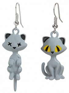 Schrodingers Thought Experiment Cats Earrings