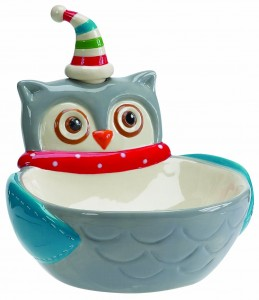 Snowy Owl Dip Bowl and Spreader