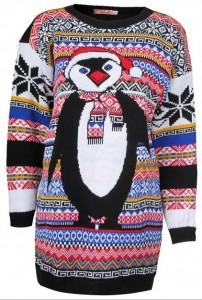 Penguin Print Ugly Christmas Sweater