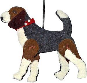 Beagle Wool Christmas Ornament