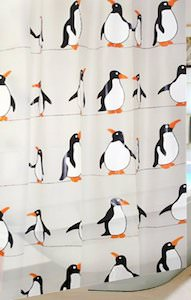 Rows Of Penguins Shower Curtain