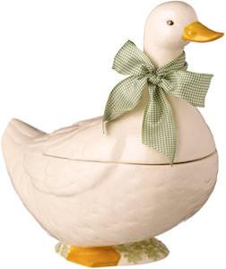 Spring Meadow Duck Cookie Jar