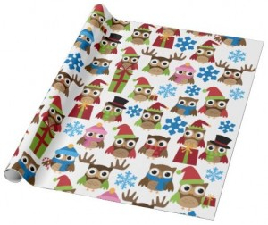 Owl Christmas Wrapping Paper