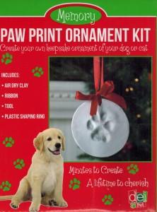Pet Paw Print Ornament Kit