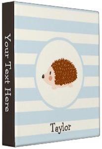 Avery Personalized Hedgehog Binder