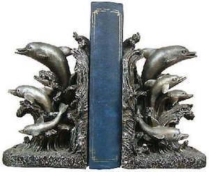 Jumping Dolphins Bookends