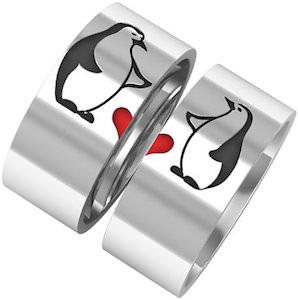 Penguins Couples Ring Set