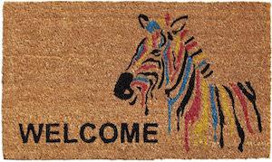 Zebra Welcome Doormat
