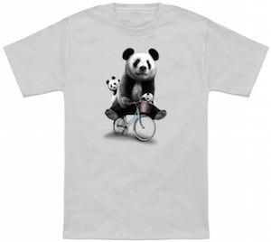 Panda's On A Bike T-Shirt