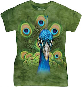 Peacock Head And Feathers Women's T-Shirt