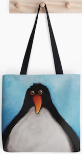 Cuddly Penguin Tote Bag