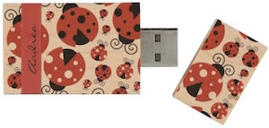 Ladybug USB Flash Drive Made From Wood