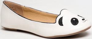 Panda Bear Flat Women's Shoes