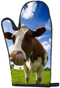 Brown cow oven mitt