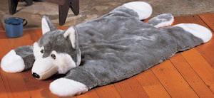 Grey Wolf Plush Rug