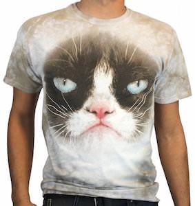 Grumpy Cat Face T-Shirt