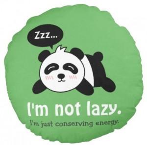 Lazy Panda Custom Print Round Pillow