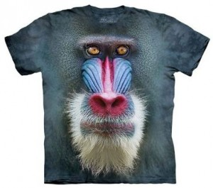 Madrill Baboon Realistic Face T-Shirt