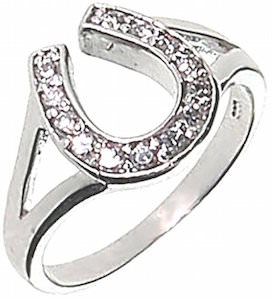 Silver Lucky Horseshoe Ring