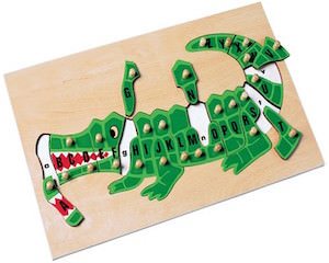 kids wooden alligator puzzle