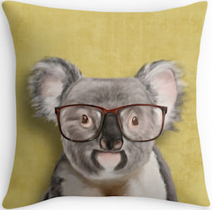 Mr. Koala Throw Pillow