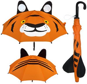 Orange Tiger Umbrella For Kids