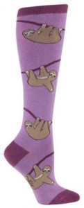 Sloth Purple Knee High Socks