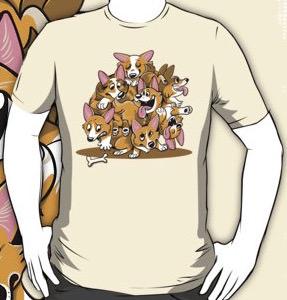 Cartoon Corgi Dogs t-shirt