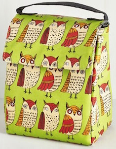 Green Owl Lunch Bag