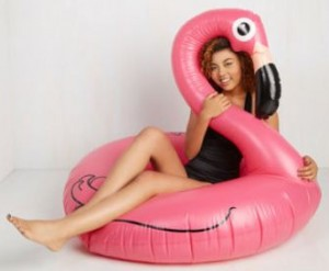 Pink Flamingo Pool Float Toy