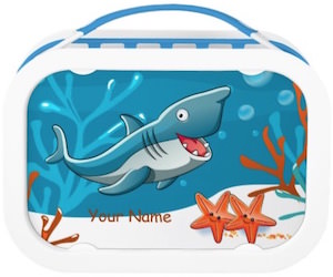 Personalized Shark Lunch Box