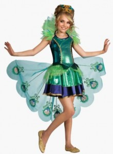 Peacock Kids Costume