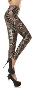 Bronze Snake Skin Leggings
