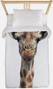 Giraffe Long Neck Twin Duvet Cover