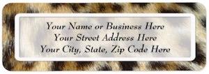 Leopard Print Address Labels.