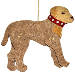 Yellow Lab Wool Christmas Ornament