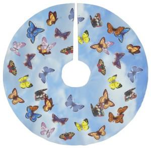 Blue Sky Butterfly Tree Skirt