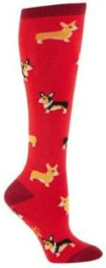 Corgi Women's Red Knee High Socks