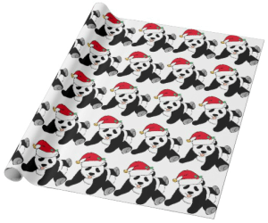 Panda Christmas Wrapping Paper