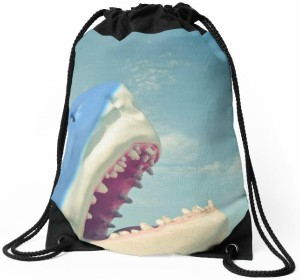 Shark Bite Drawstring Bag